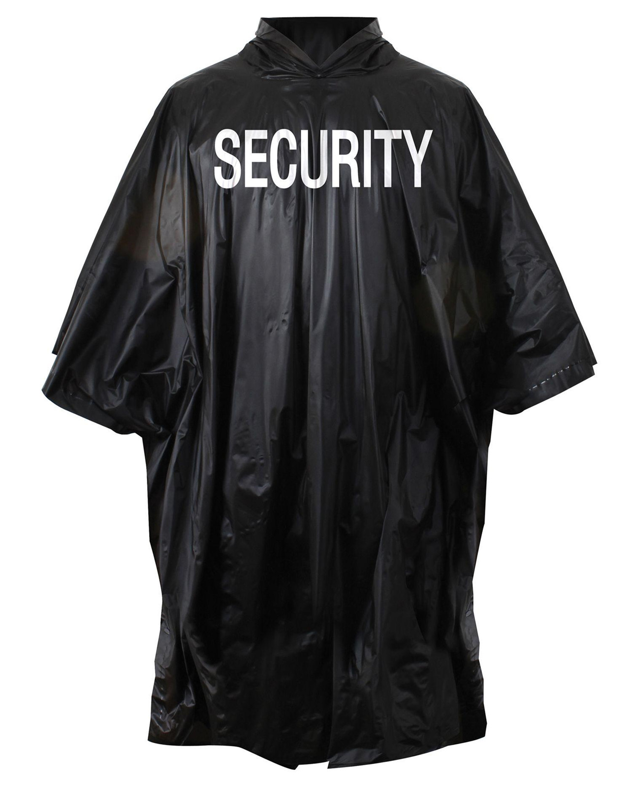 Image of   Rothco Poncho m. Security-tryk (Sort, One Size)