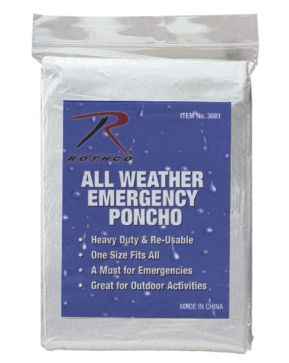 Image of   Rothco Regn Poncho (Gennemsigtig, One Size)