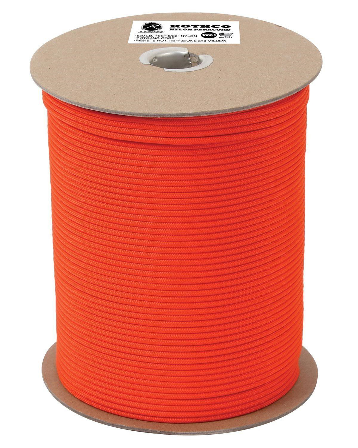 Image of   Rothco Rulle m. 304m./1000ft Paracord - 550lb (Safety Orange, One Size)
