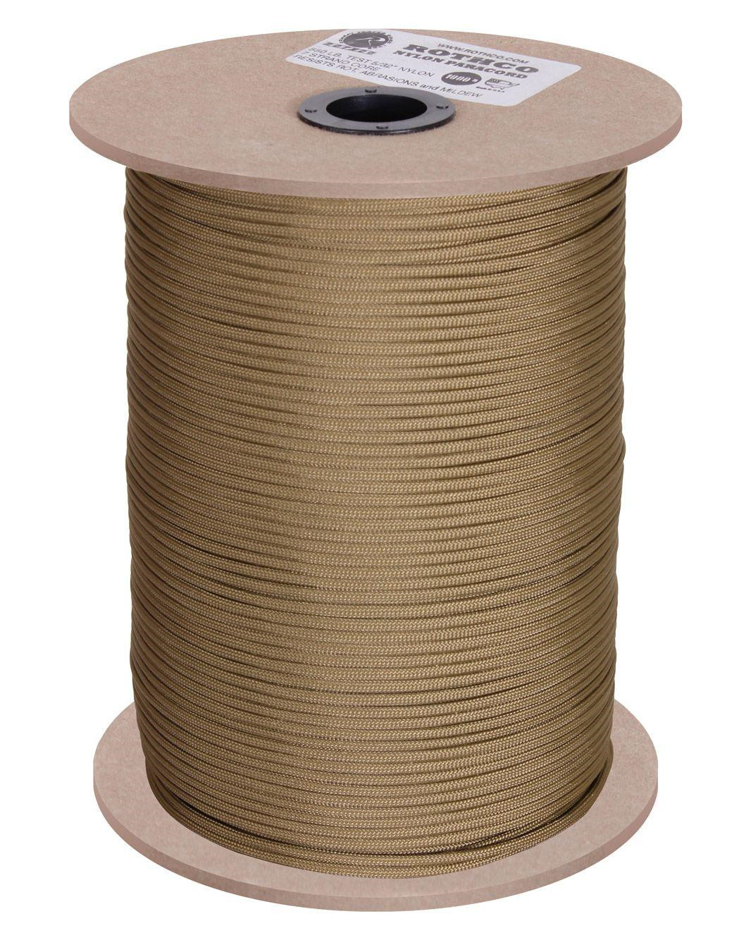 Image of   Rothco Rulle m. 304m./1000ft Paracord - 550lb (Coyote Brun, One Size)