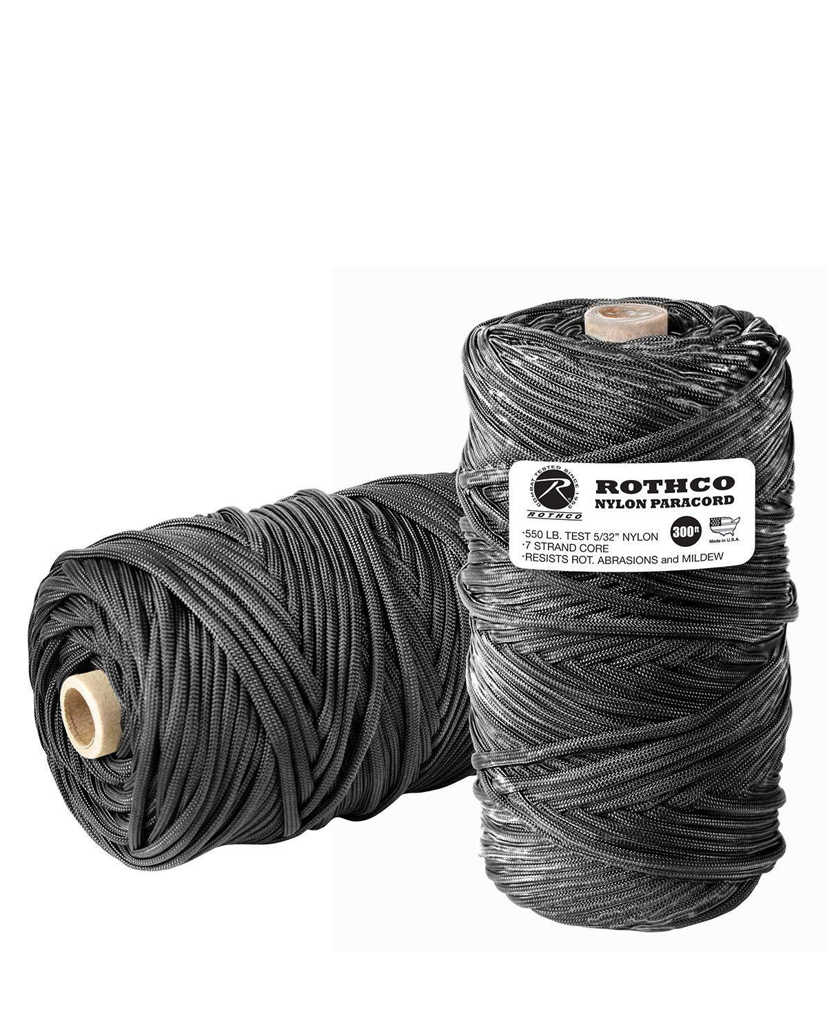 Image of   Rothco Rulle m. 91m/300ft Paracord - 550lb (Sort, One Size)