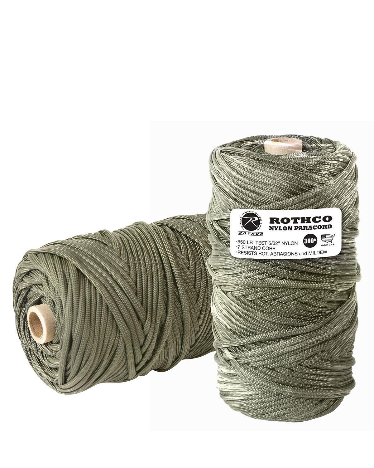 Image of   Rothco Rulle m. 91m/300ft Paracord - 550lb (Oliven, One Size)