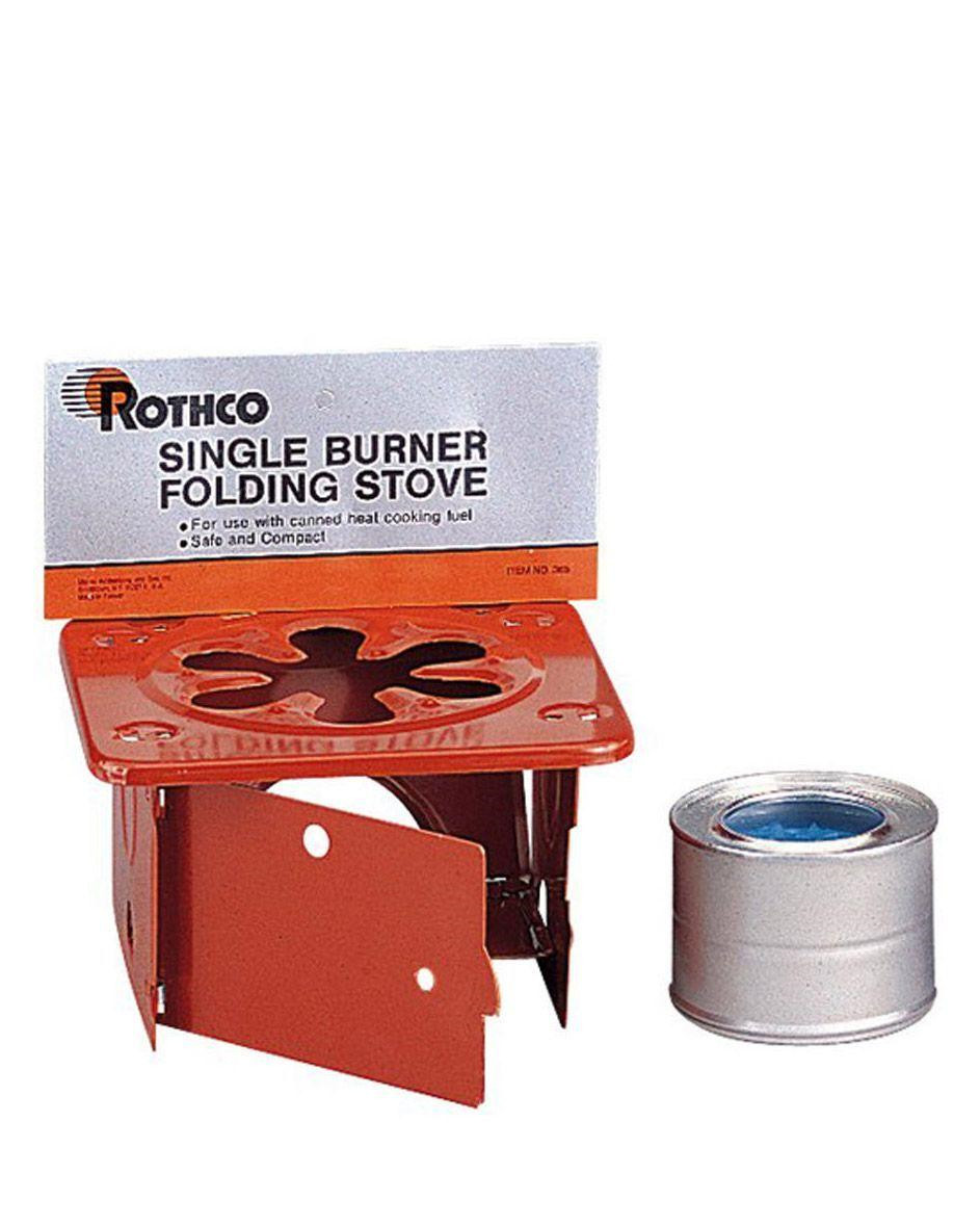 Image of   Rothco Single Burner Folding Stove (Rød, One Size)