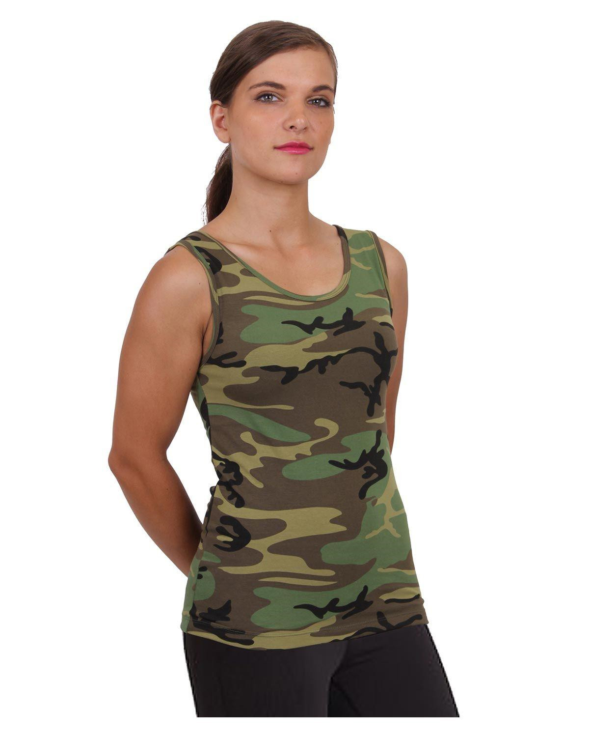 Image of   Rothco Stretch Tank Top (Woodland, 2XL)