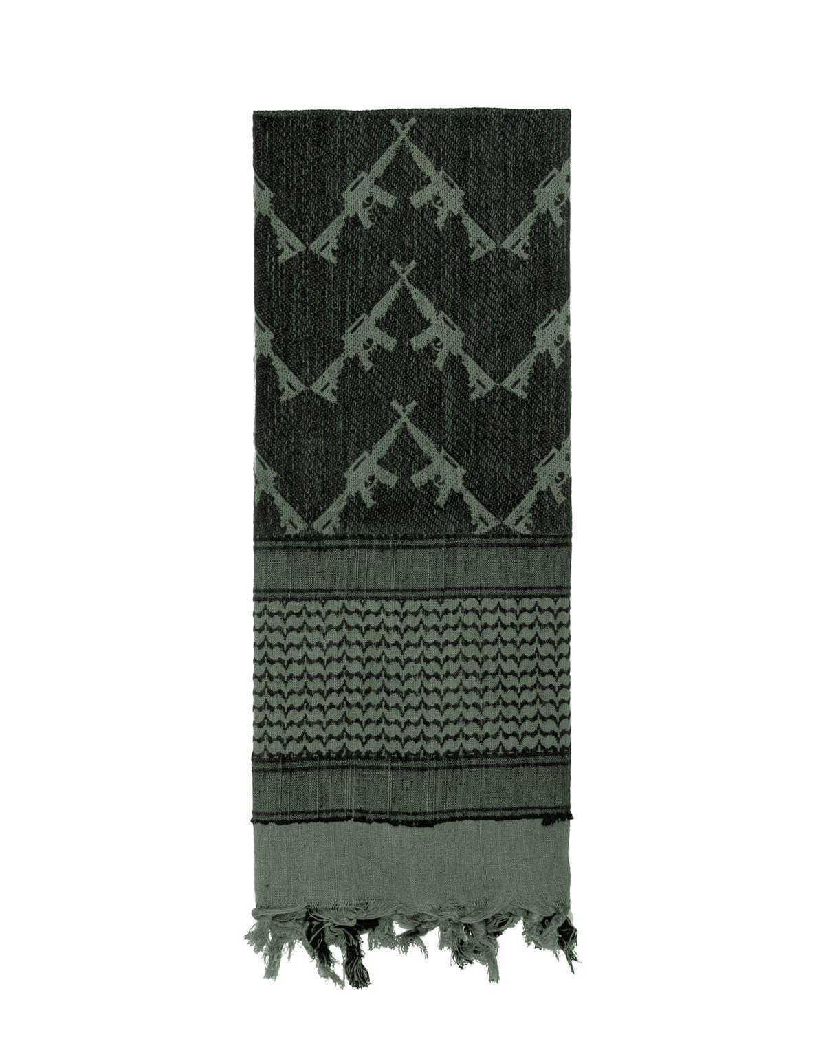Image of   Rothco Taktisk Partisan Tørklæde - 'Crossed Rifle' (Blad Grøn, One Size)
