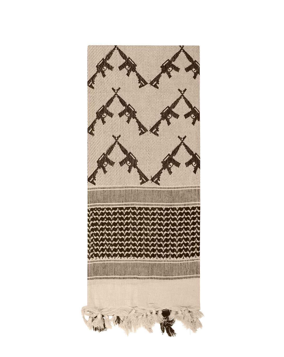 Image of   Rothco Taktisk Partisan Tørklæde - 'Crossed Rifle' (Khaki, One Size)