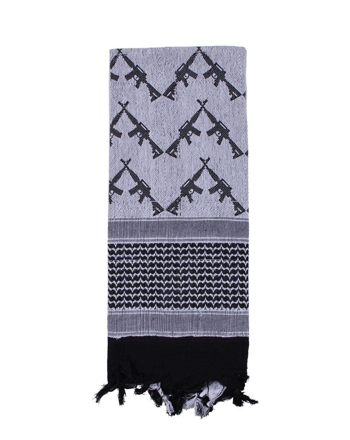 Image of   Rothco Taktisk Partisan Tørklæde - 'Crossed Rifle' (Hvid, One Size)