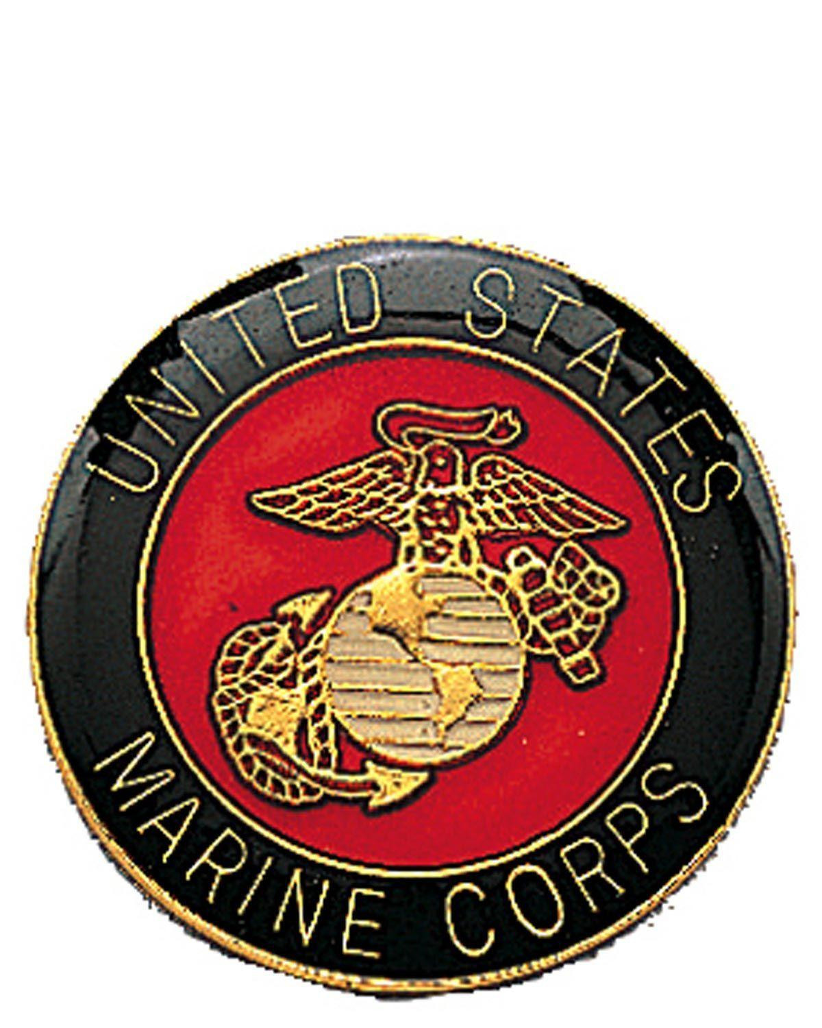 Image of   Rothco USMC Pin (Messing, One Size)