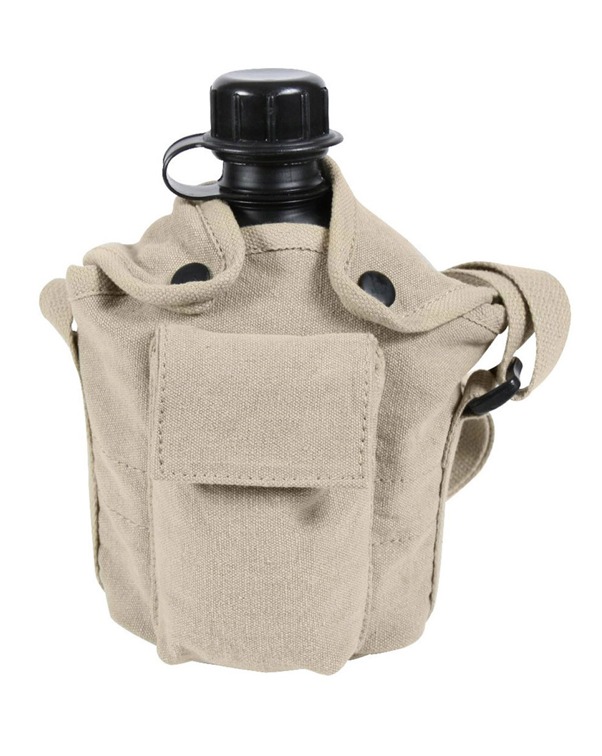 Image of   Rothco Vintage Canvas Carry-All Canteen Cover Med Skulderstrop (Khaki, One Size)