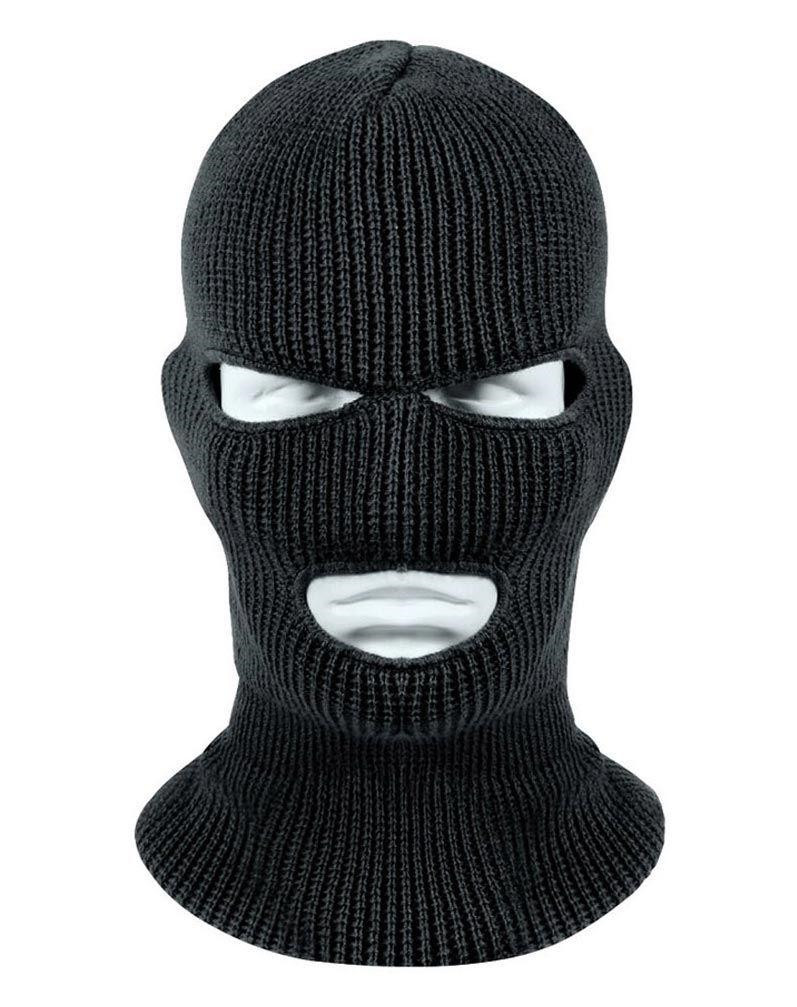 Image of   Rothco Wintuck Balaclava - 3-Huls (Sort, One Size)