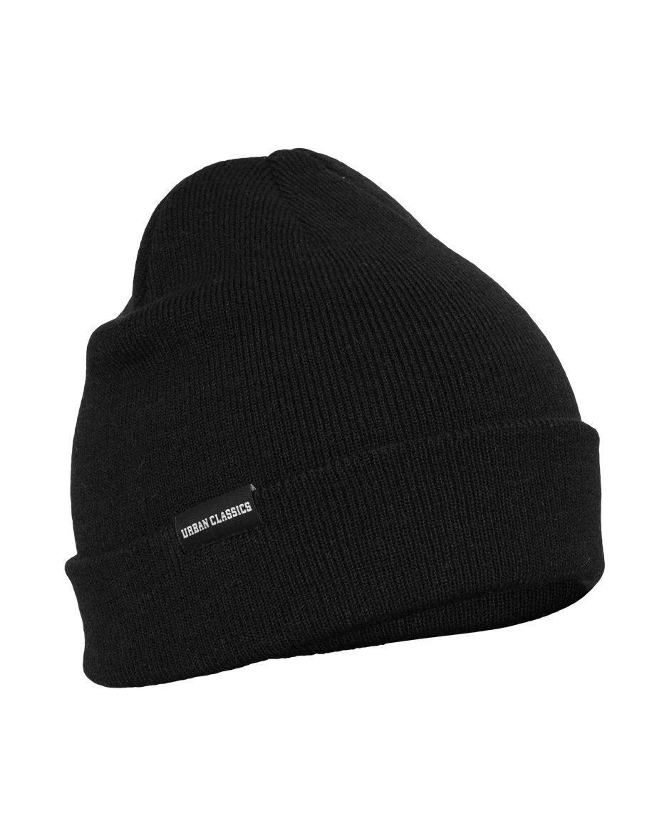 Image of   Urban Classics Basic Flap Beanie (Sort, One Size)