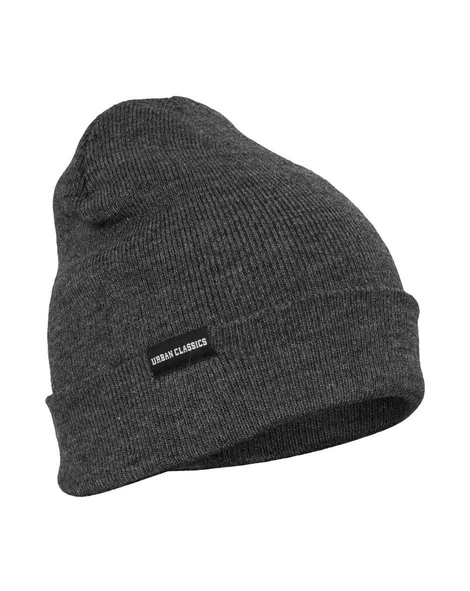 Image of   Urban Classics Basic Flap Beanie (Charcoal, One Size)
