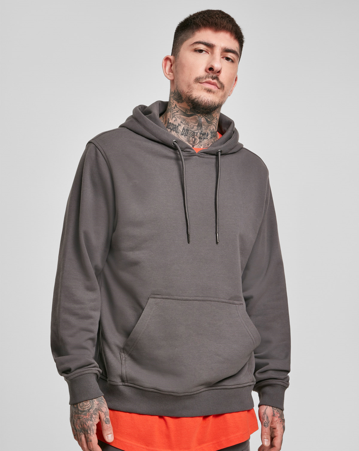 Urban Classics Basic Terry Hoodie (Dark Shadow, 2XL)