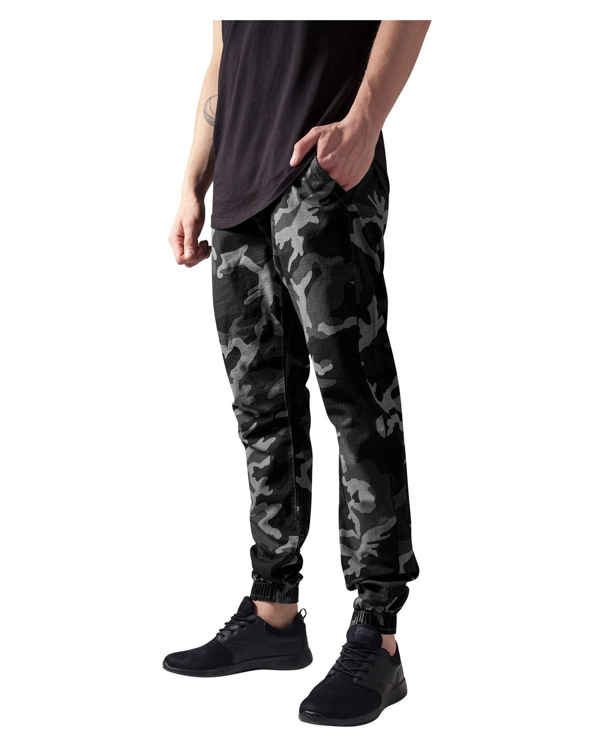 Image of   Urban Classics Camo Ripstop Jogging Bukser (Dark Camo, XL)