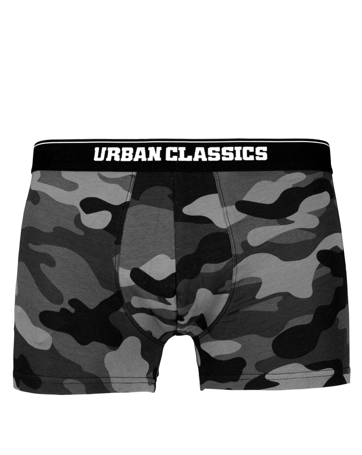 Image of   Urban Classics Camouflage Boxer Shorts - 2-Pak (Dark Camo, 2XL)