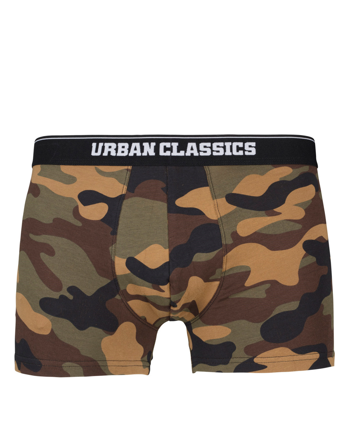 Image of   Urban Classics Camouflage Boxer Shorts - 2-Pak (Woodland / Dark camo, 2XL)
