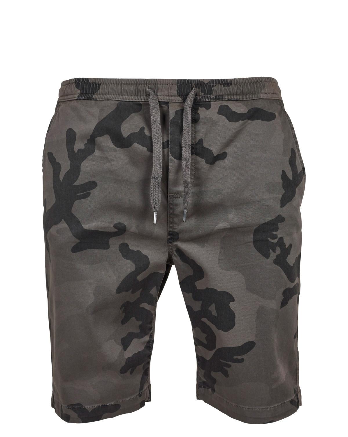 Urban Classics Kamouflage Joggingshorts (Dark Camo, S)