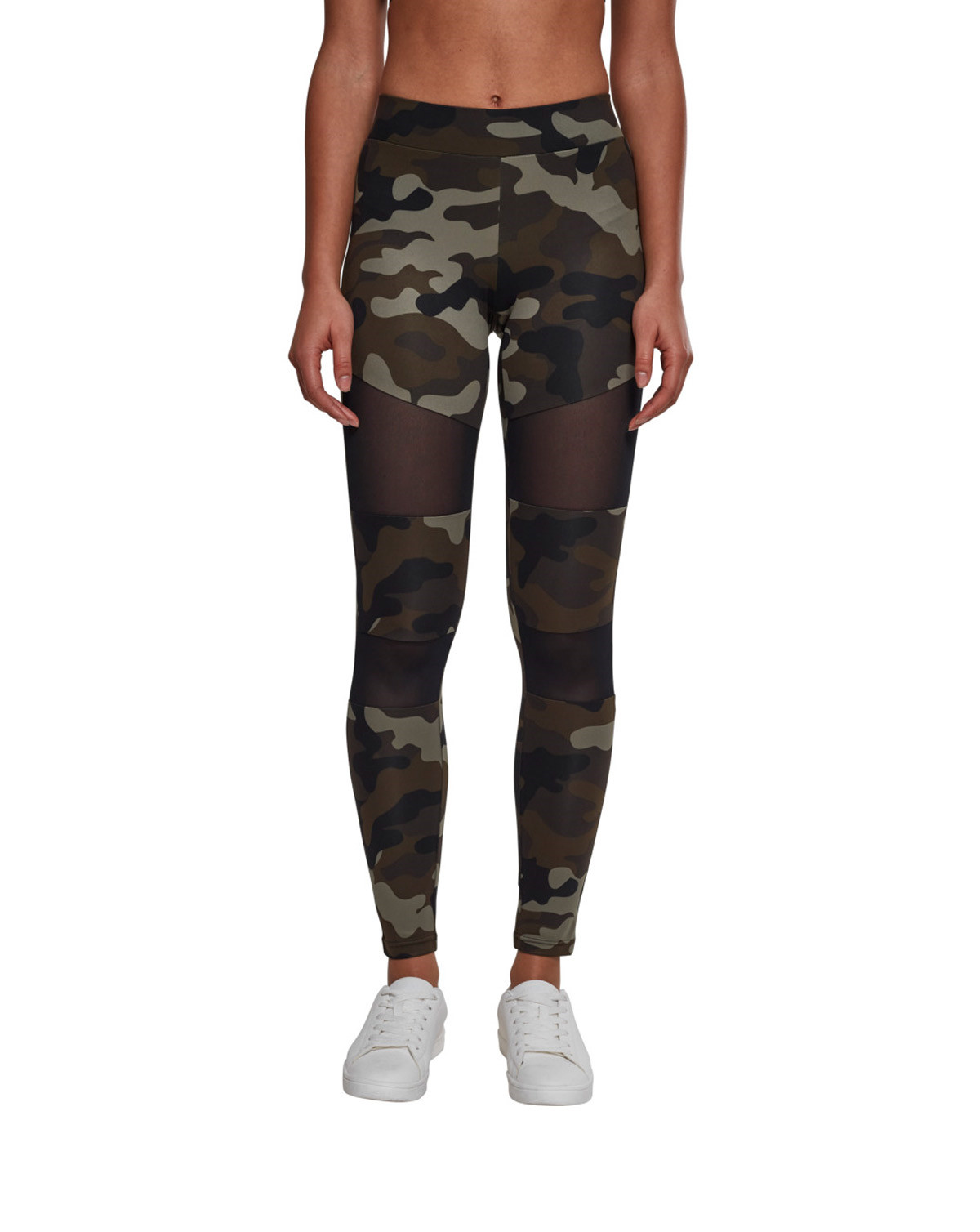 Image of   Urban Classics Camouflage Leggings m. Mesh (Woodland, 2XL)