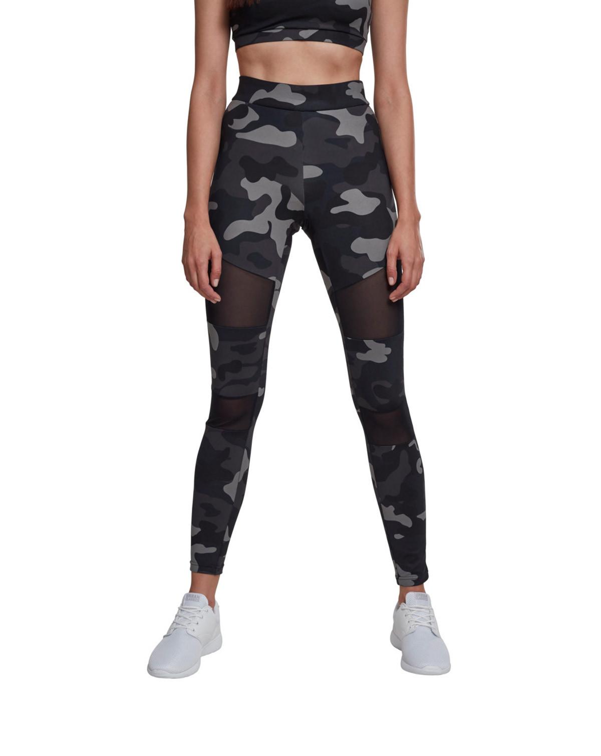 Image of   Urban Classics Camouflage Leggings m. Mesh (Dark Camo, 2XL)