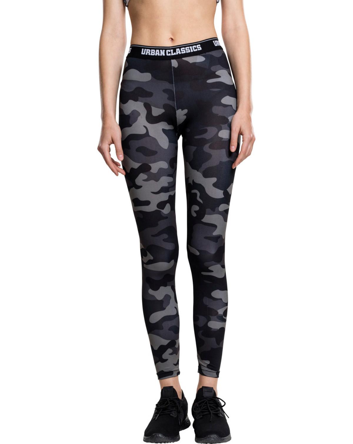 Image of   Urban Classics Camouflage Leggings (Dark Camo, L)