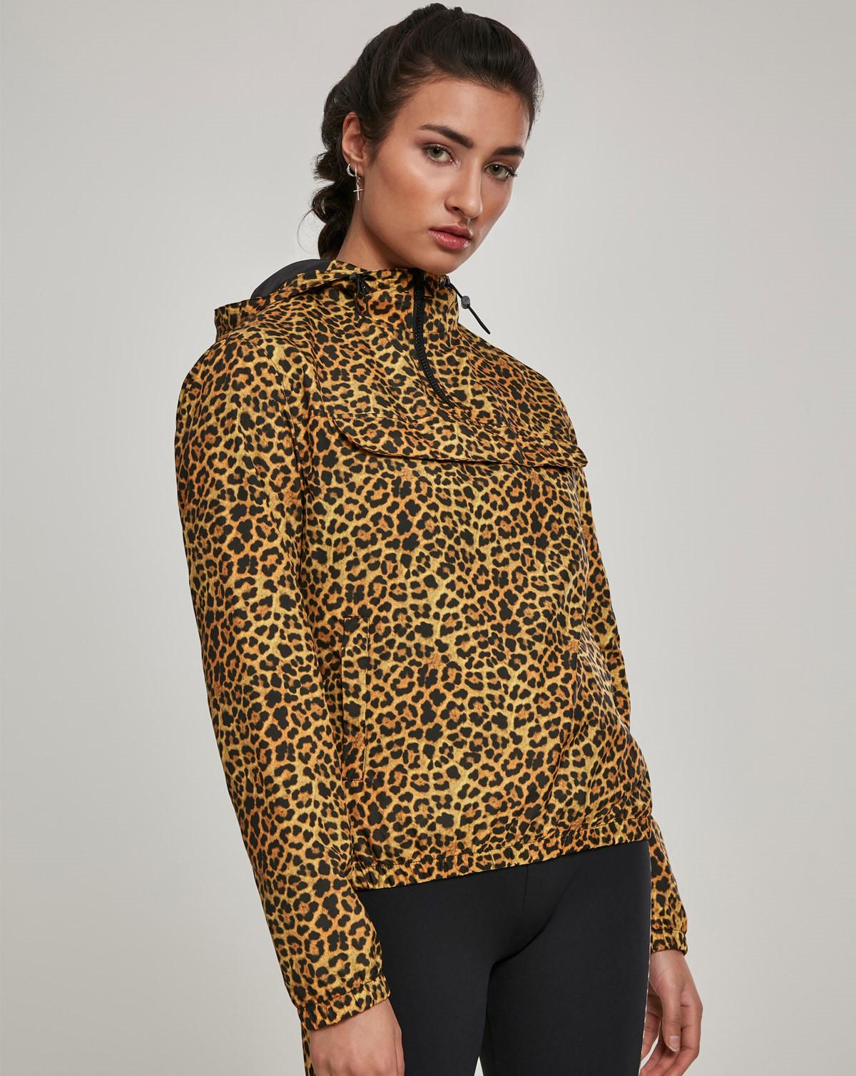Urban Classics Ladies Pattern Pull Over Jacket (Leo, XS)