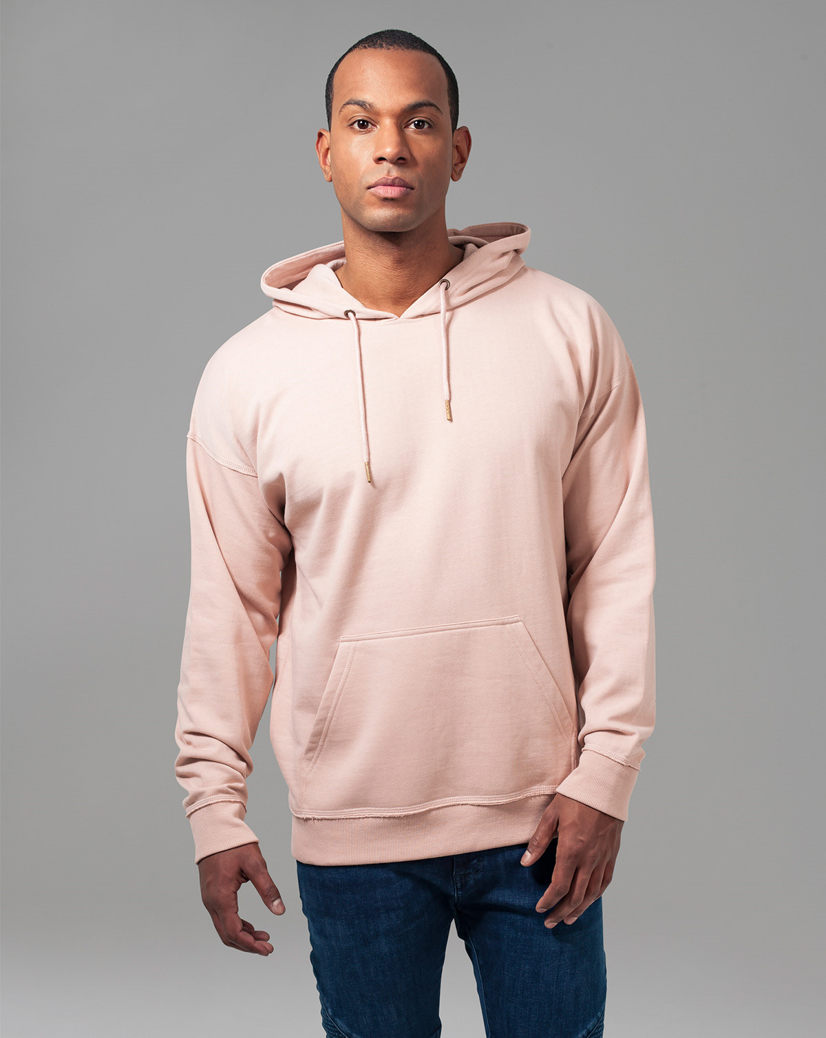 Urban Classics Oversized Sweat Hoody (Light Rose, 2XL)