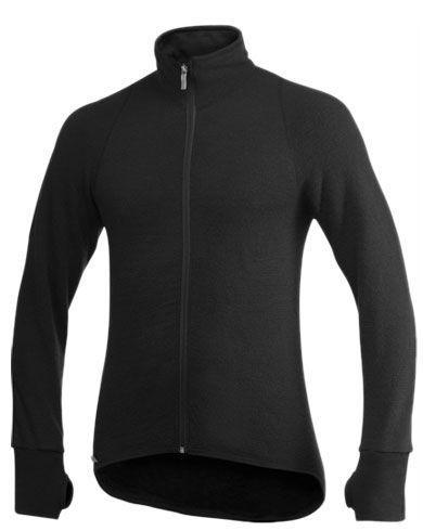 Image of   Woolpower Full Zip Sweater 600 (Sort, XL)