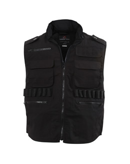 Ranger Vest Black Security Tactical Vest With Hood 7457 Rothco