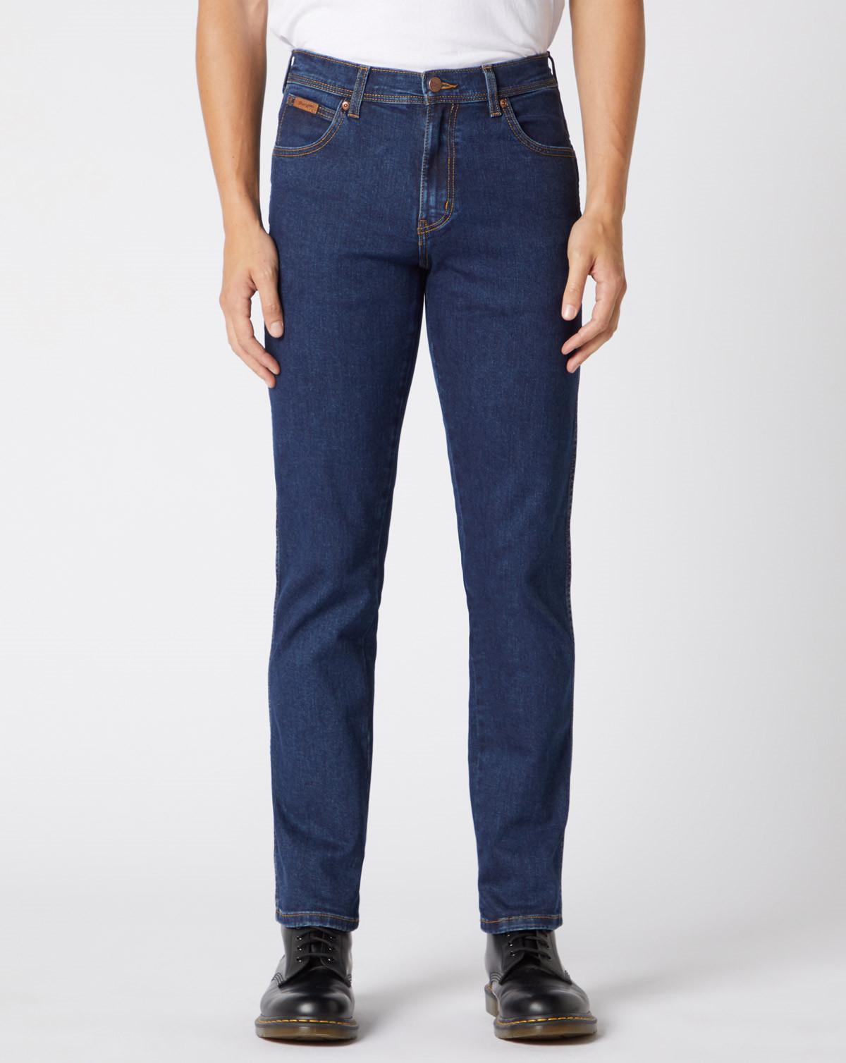 Wrangler Texas Straight Regular Jeans (Darkstone, W40 / L32)