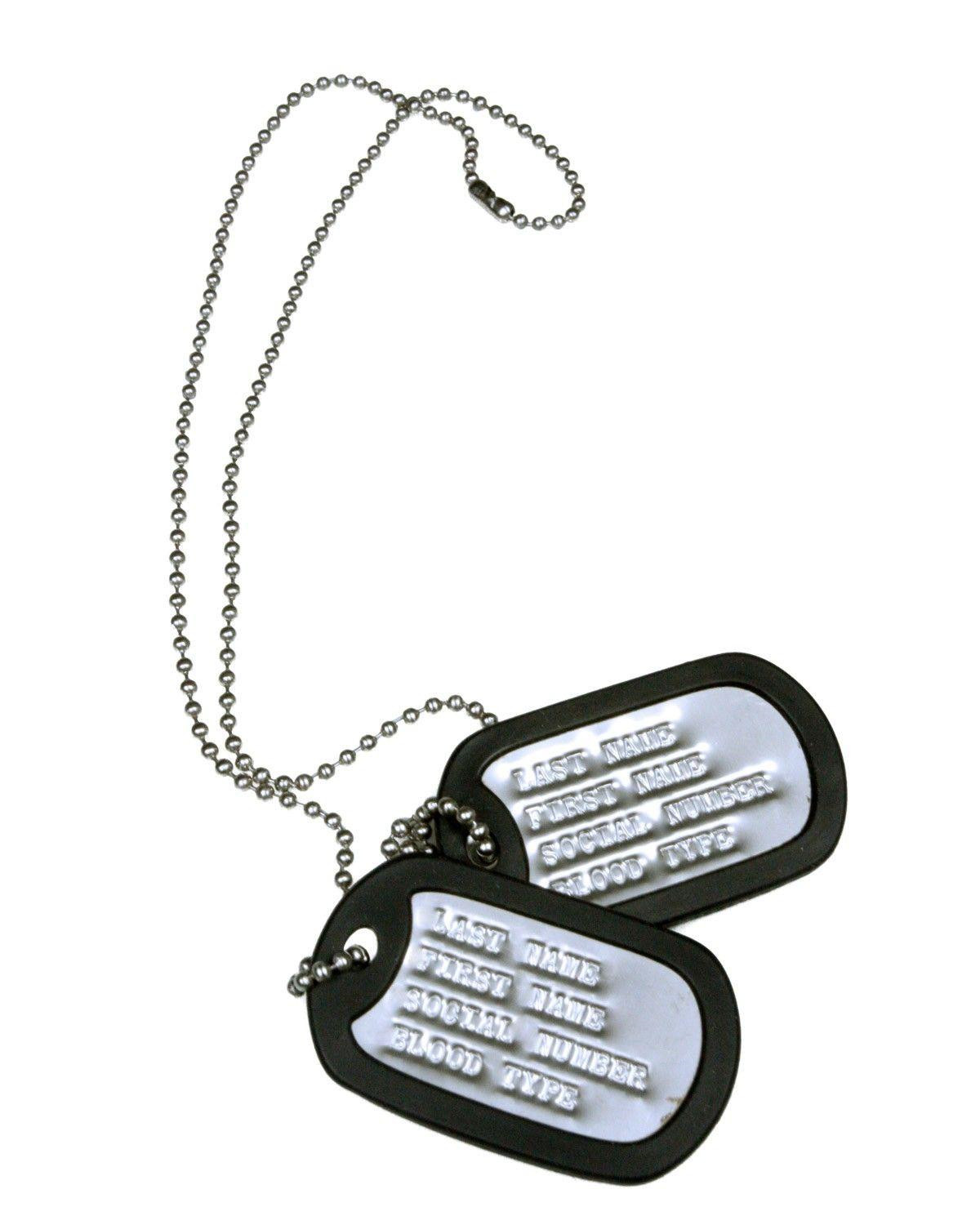 Image of   Army Star Dog tags (Rustfrit Stål, One Size)