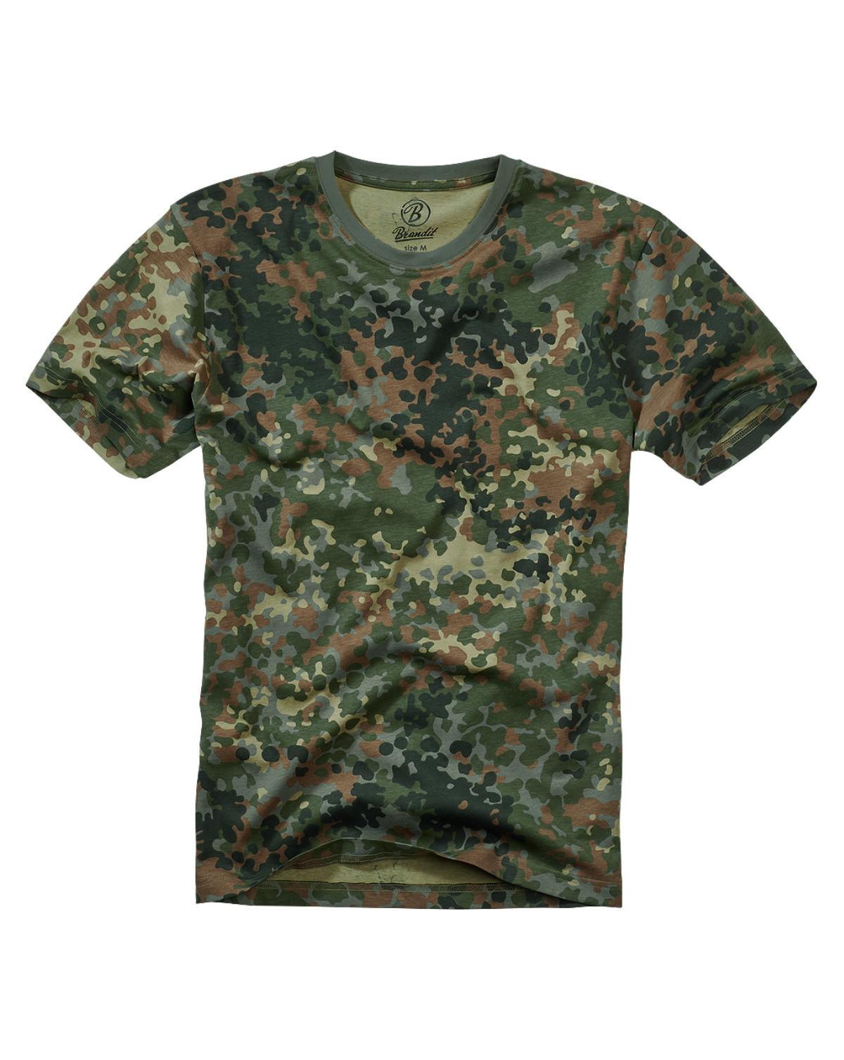 Brandit T-Shirt (Flecktarn, XL)