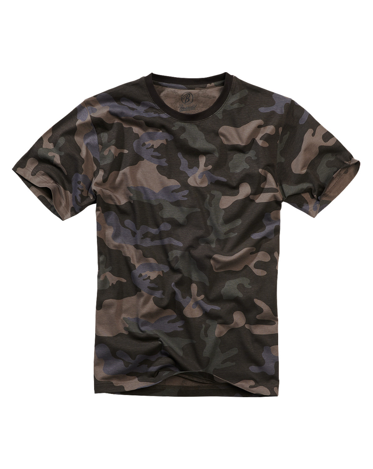 Brandit T-Shirt (Dark Camo, XL)