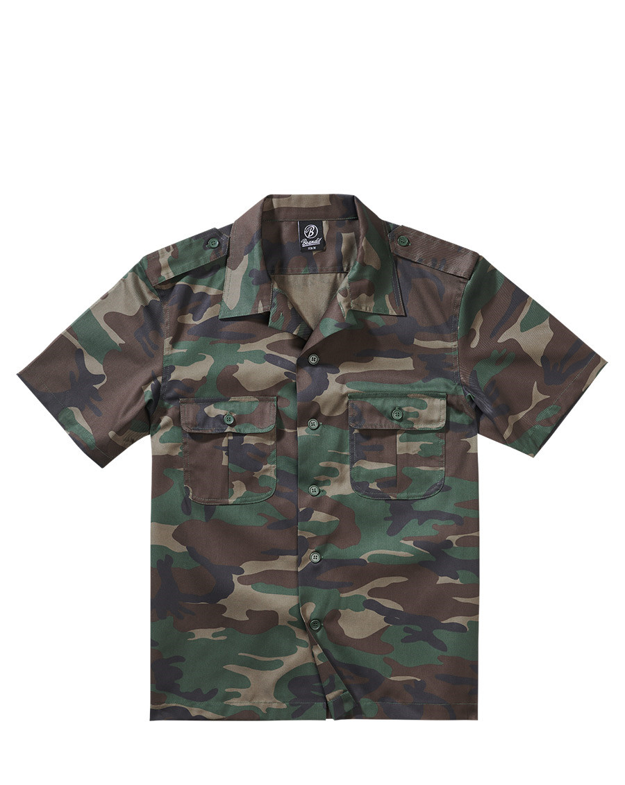 Brandit U.S. Army Skjorta (Woodland, XL)
