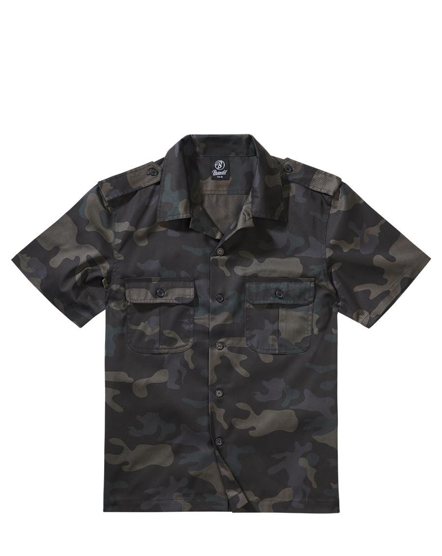 Brandit U.S. Army Skjorta (Dark Camo, XL)