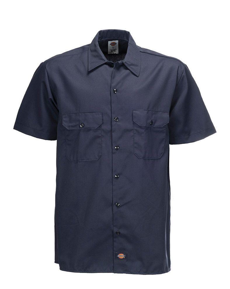 Dickies 1574 Original Short Sleeve Work Shirt (Dark Navy, XL)