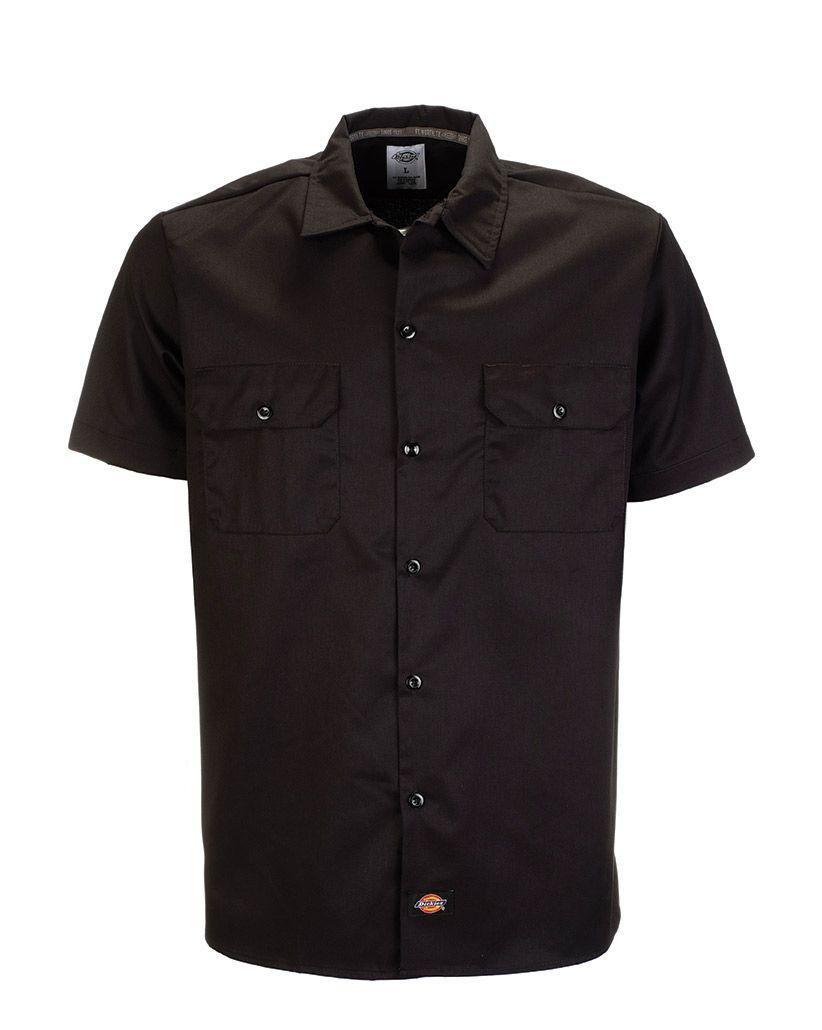 Dickies 576 Short Sleeve Slim Work Shirt (Black, 2XL)