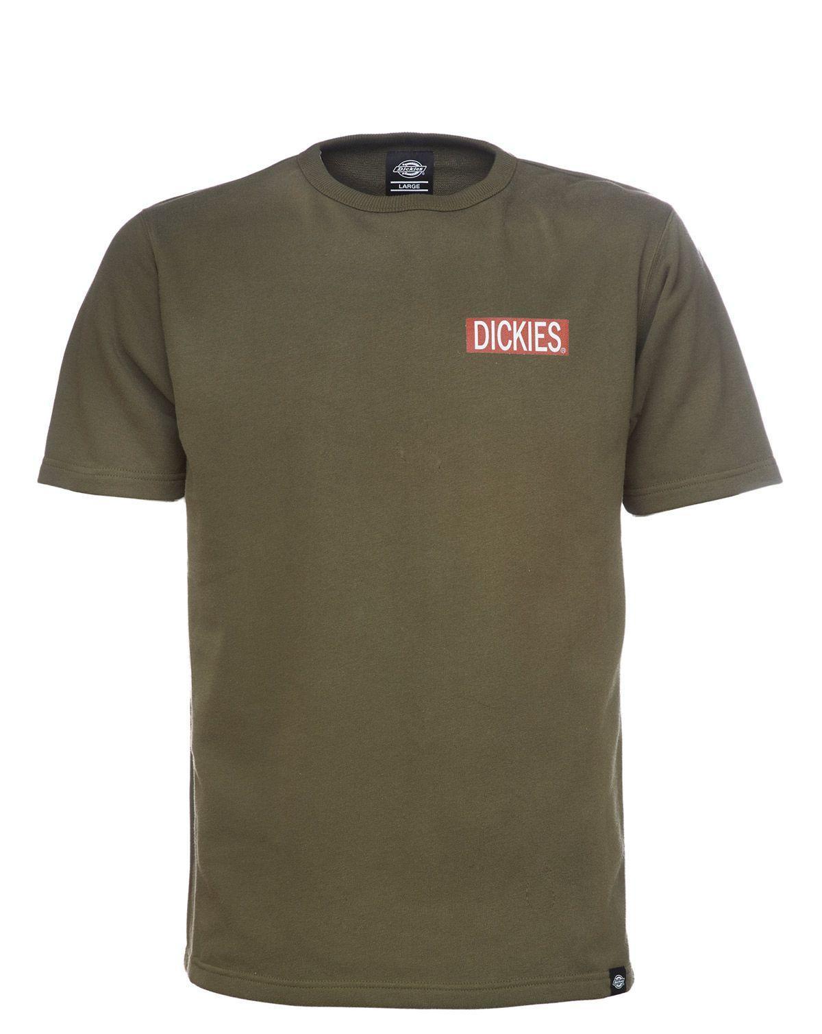 Dickies Clarkedale Short Sleeve Sweatshirt (Dark Olive, XL)
