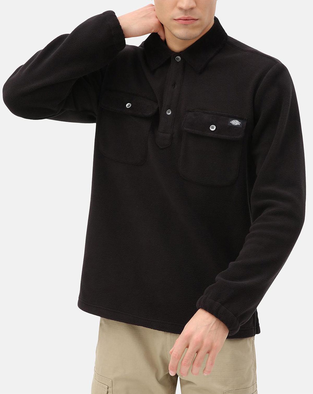 Dickies Morganza Polo Fleece (Black, XS)