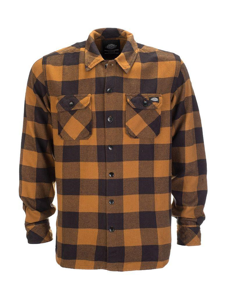 Dickies Sacramento Långärmad Skjorta (Brown Duck, 2XL)