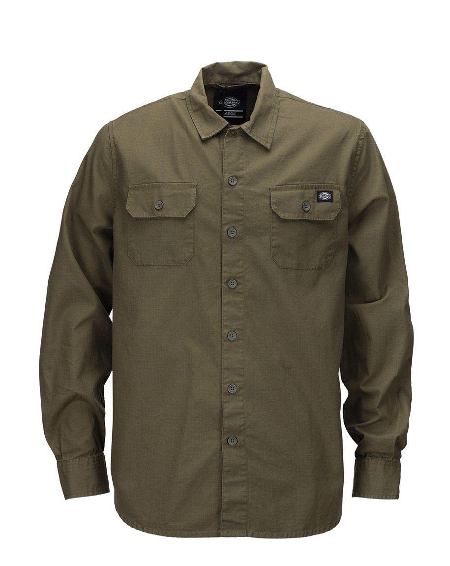 Dickies Tallahassee Shirt (Dark Olive, XS)