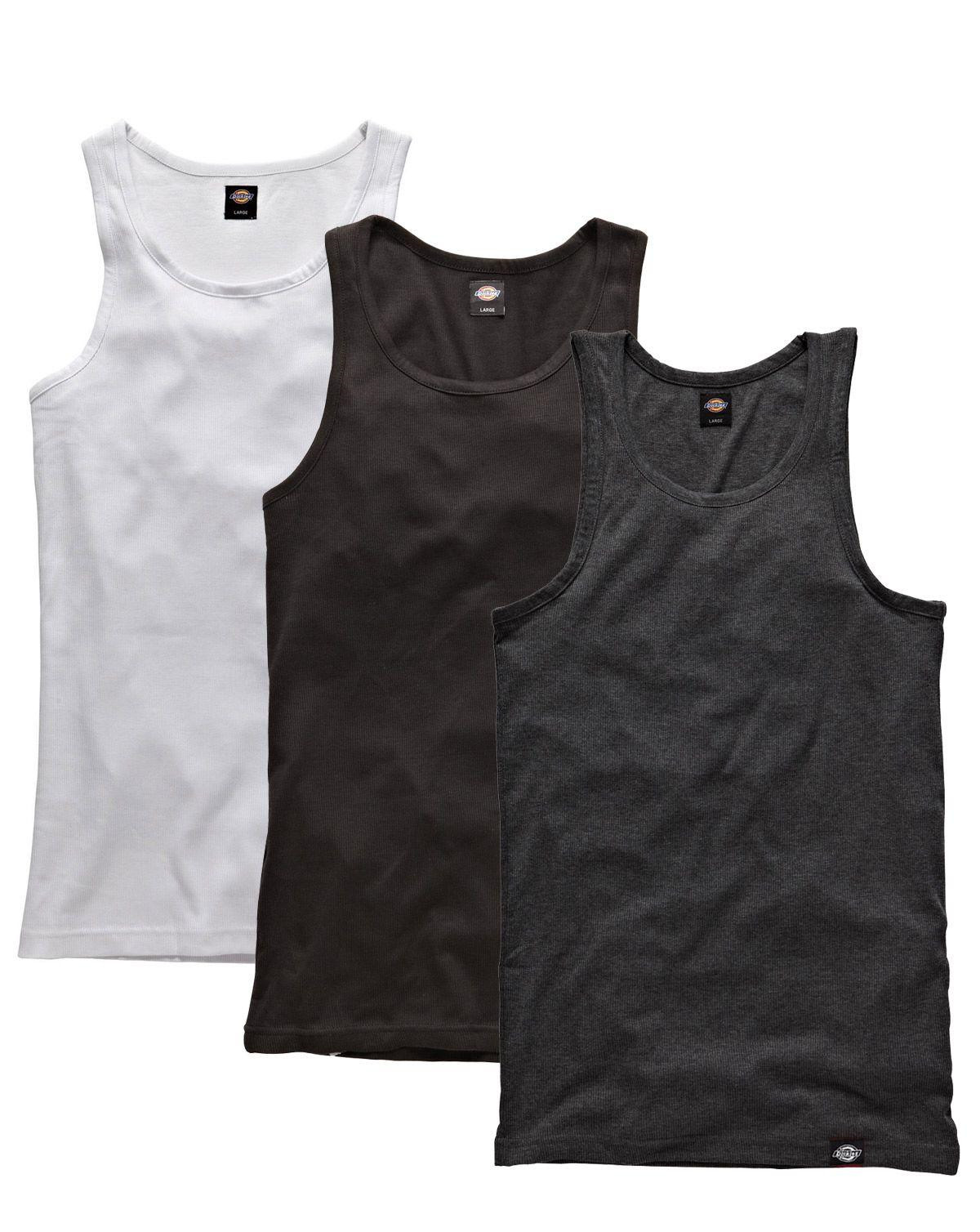 Dickies Tank tops - 3-Pack (Black, white and gray melange, XS)