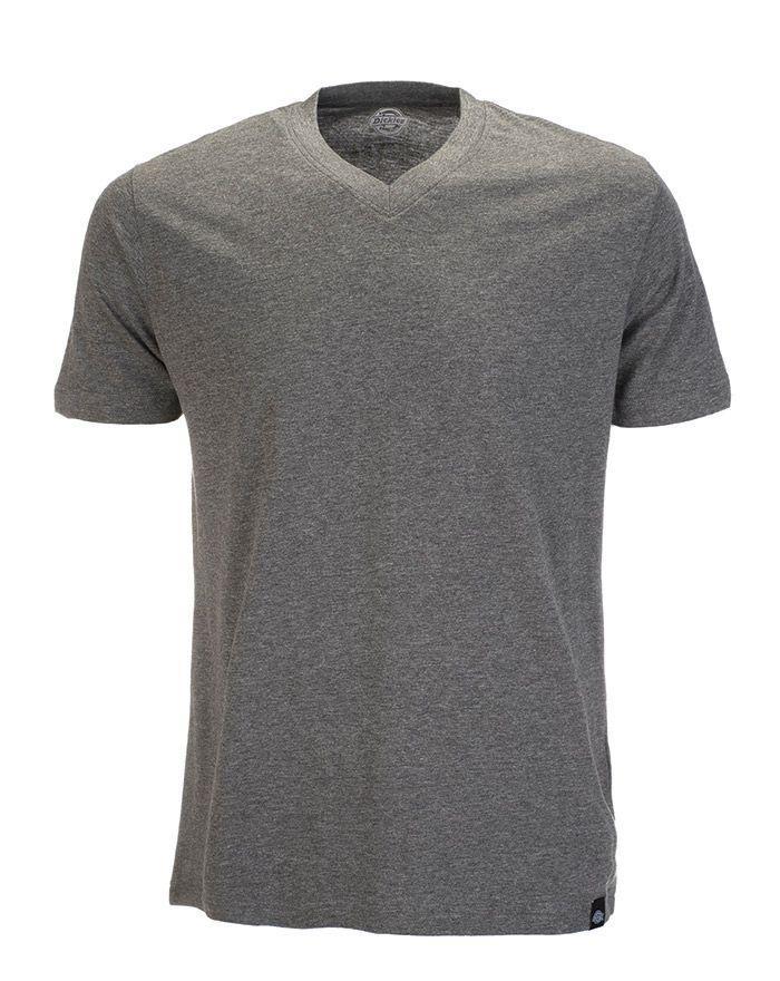Dickies V-Neck T-shirt, Enfärgad - 3-pack (Dark Grey, XL)