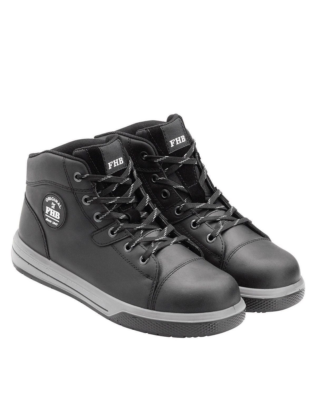 Image of   FHB High Top Sikkerhedssko - Linus (Sort, 47 EU / 13 UK)