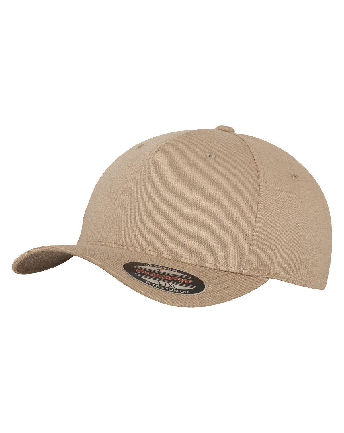 Flexfit 5 Panel Cap (Khaki, S/M)