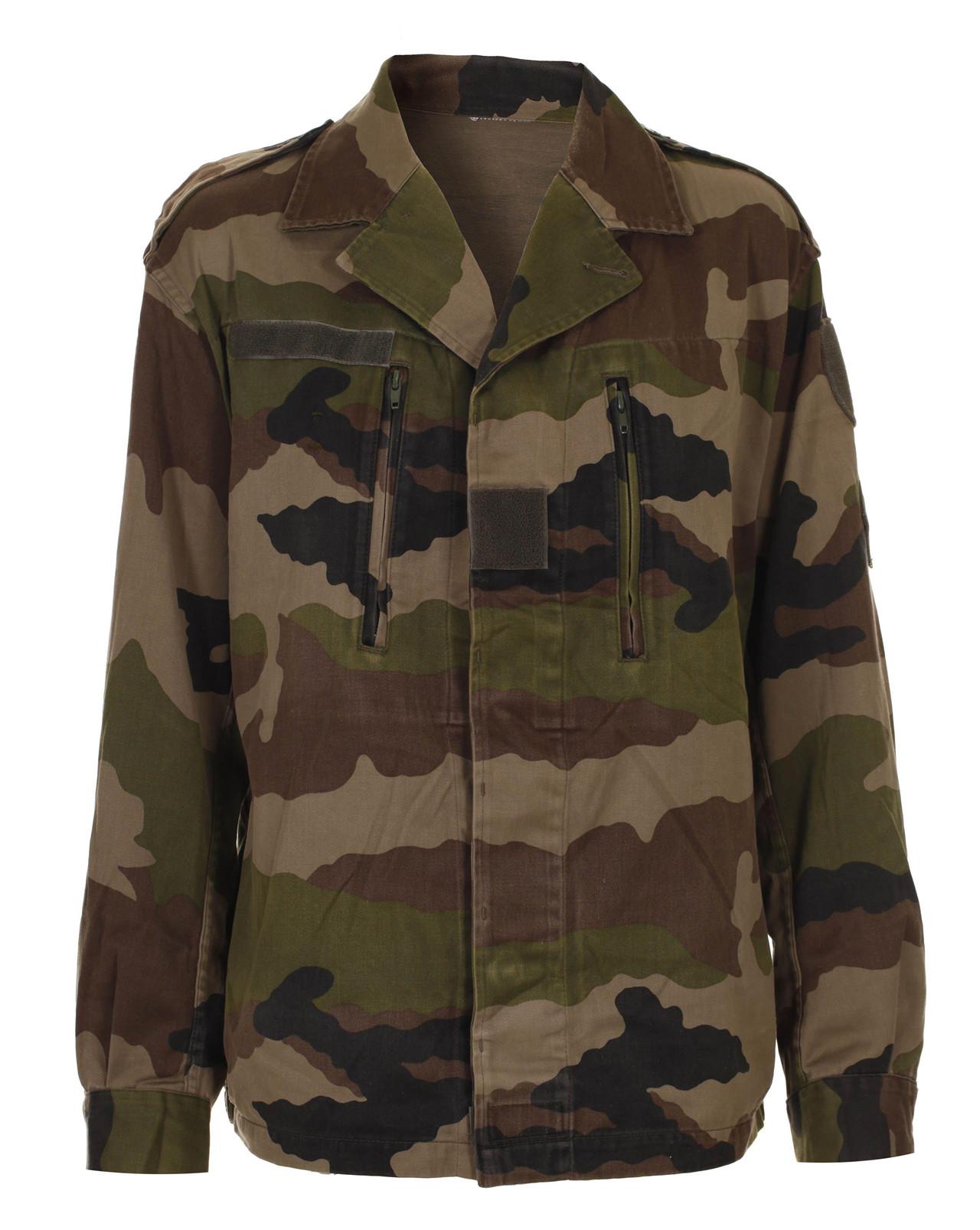 Mil-Tec Original Fransk Vintage Kamouflagejacka (Franska CCE, XS)