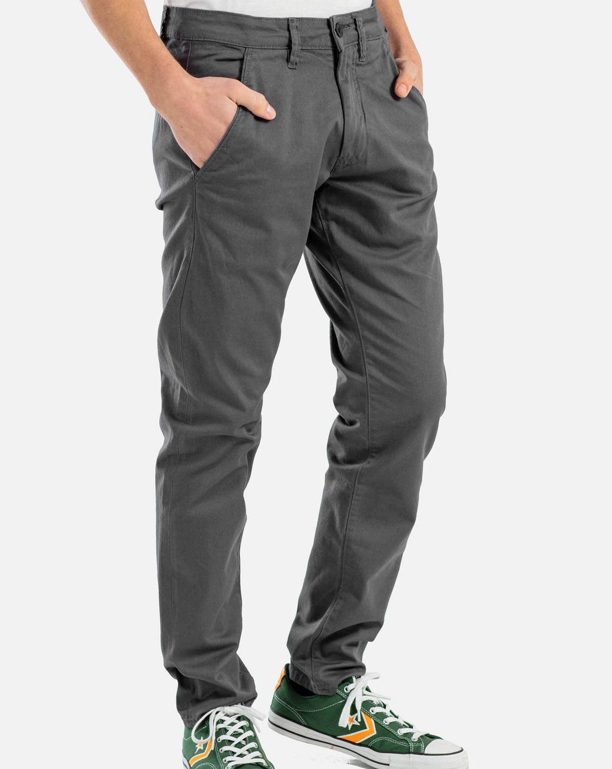Reell Flex Tapered Chino (Dark Grey, W40 / L34)