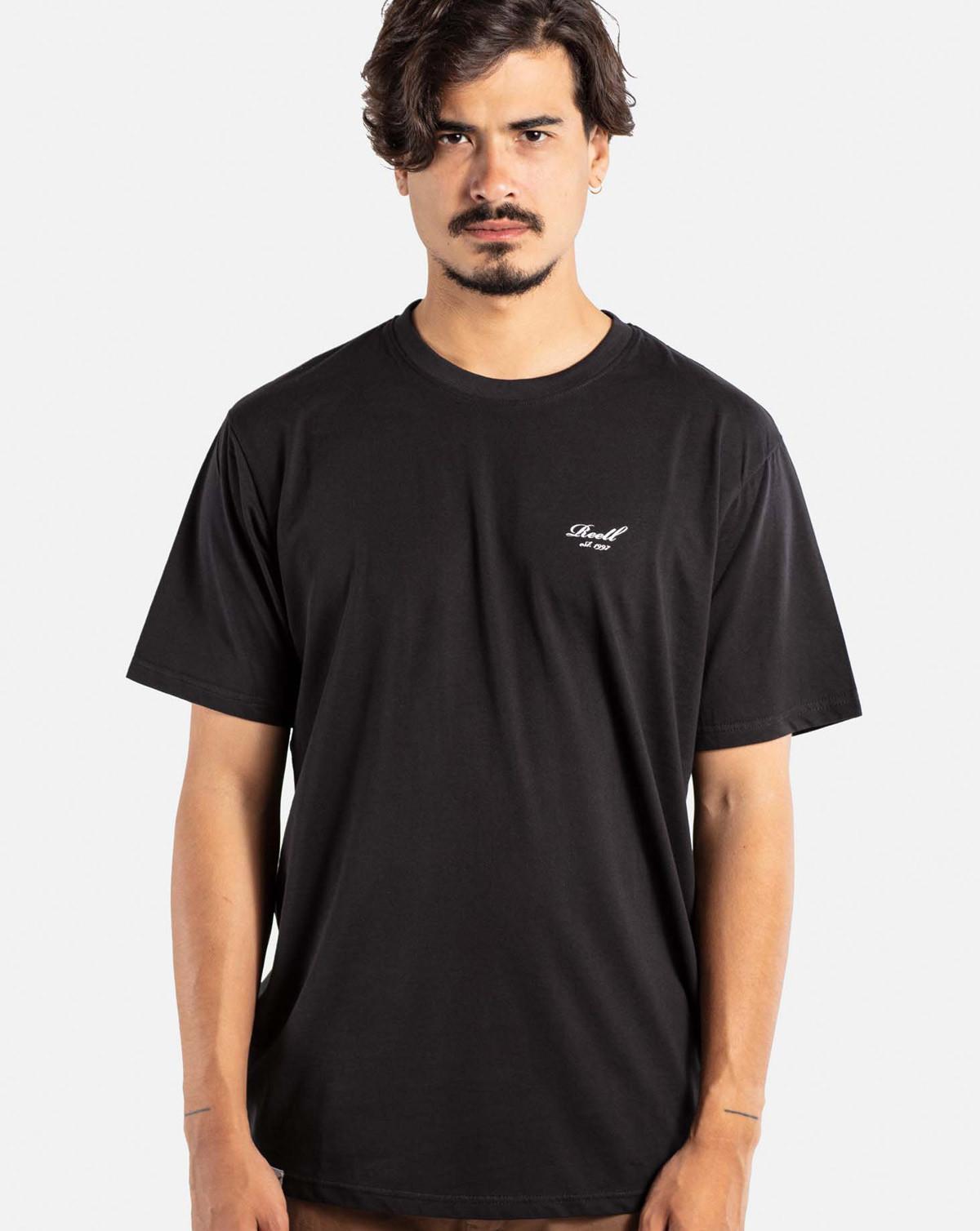 Reell Jeans Regular Logo T-Shirt (Deep Black, XXL)