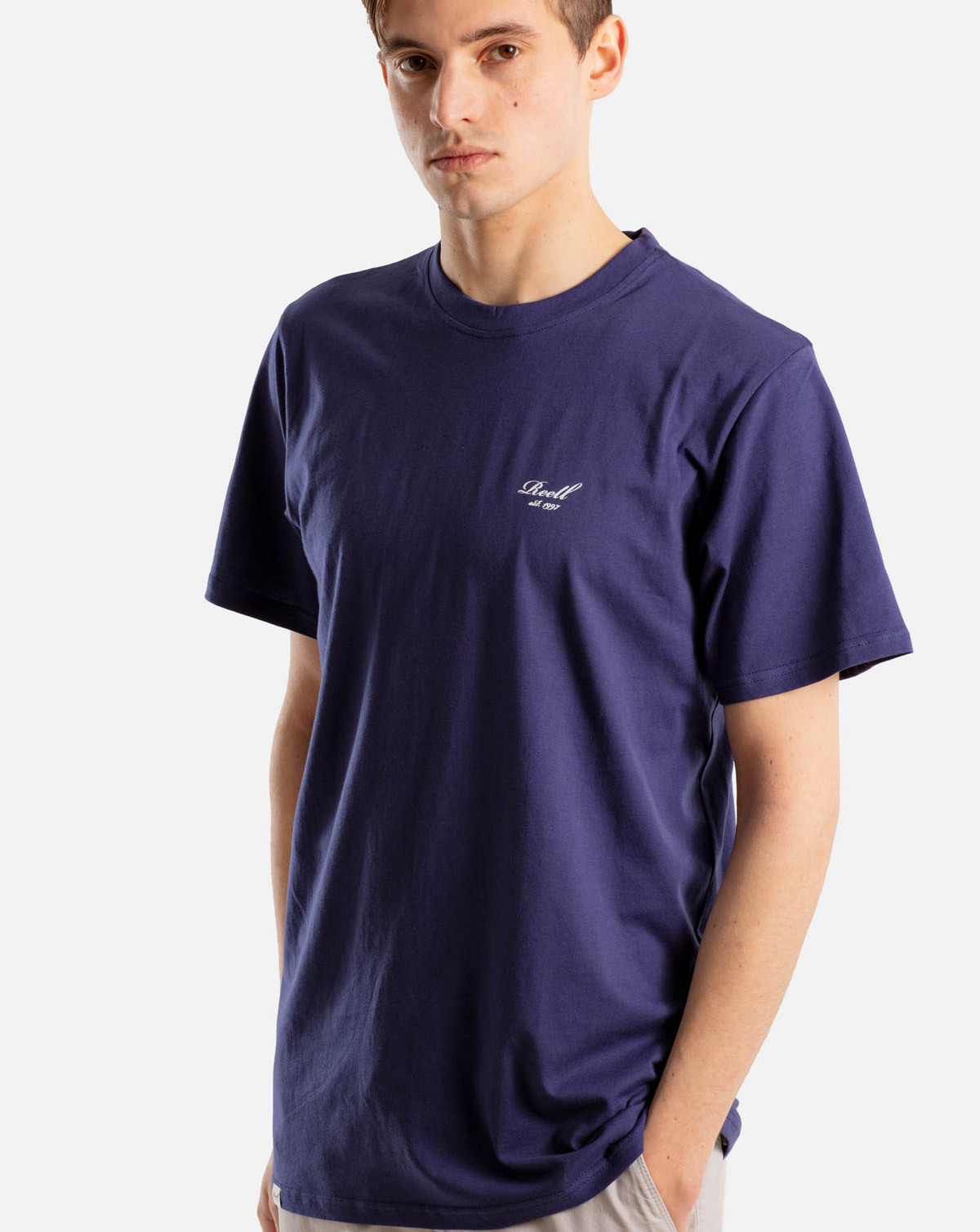 Reell Jeans Regular Logo T-Shirt (Dark Purple, XXL)