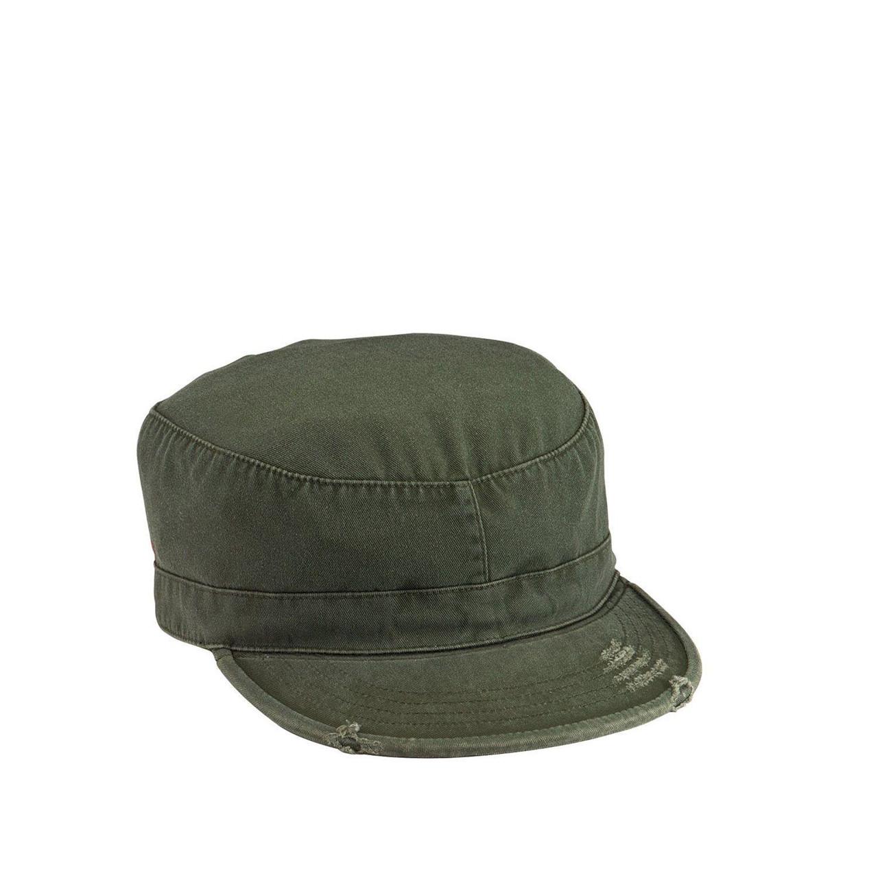 Rothco Army Vintage Caps (Olivgrön, US 7.0 / EU 56 cm)