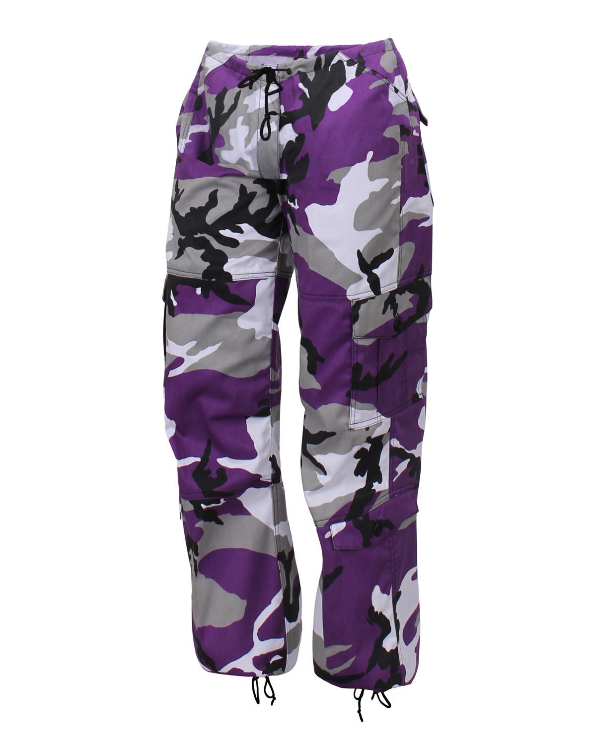 Rothco Kamouflage Army Byxor (Lila Camo, XXS)